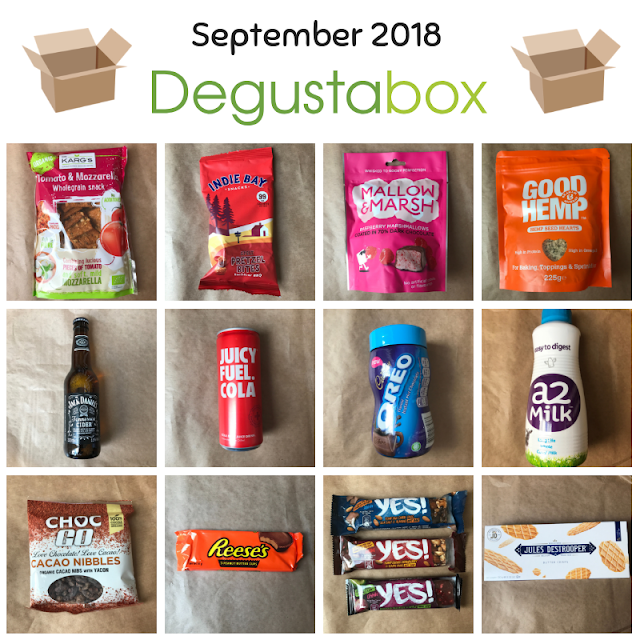 september 2018 Degustabox contents