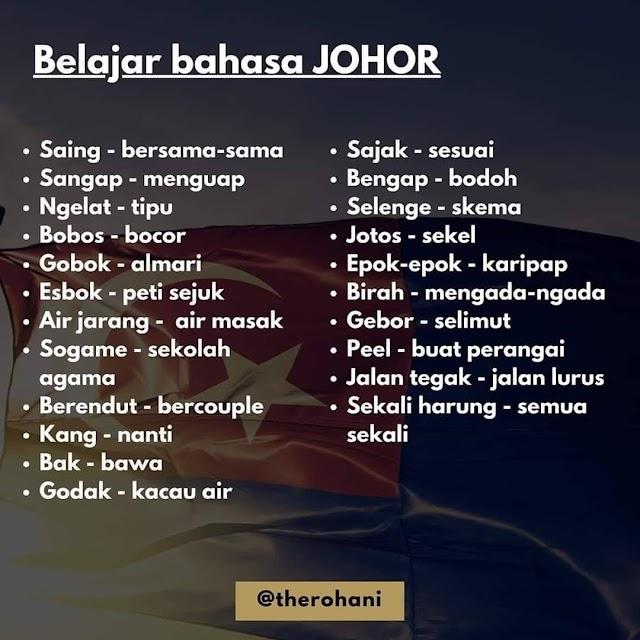 Kamus Bahasa Johor