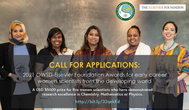 OWSD Elsevier Foundation Awards 2021 for Early-Career Women Scientists