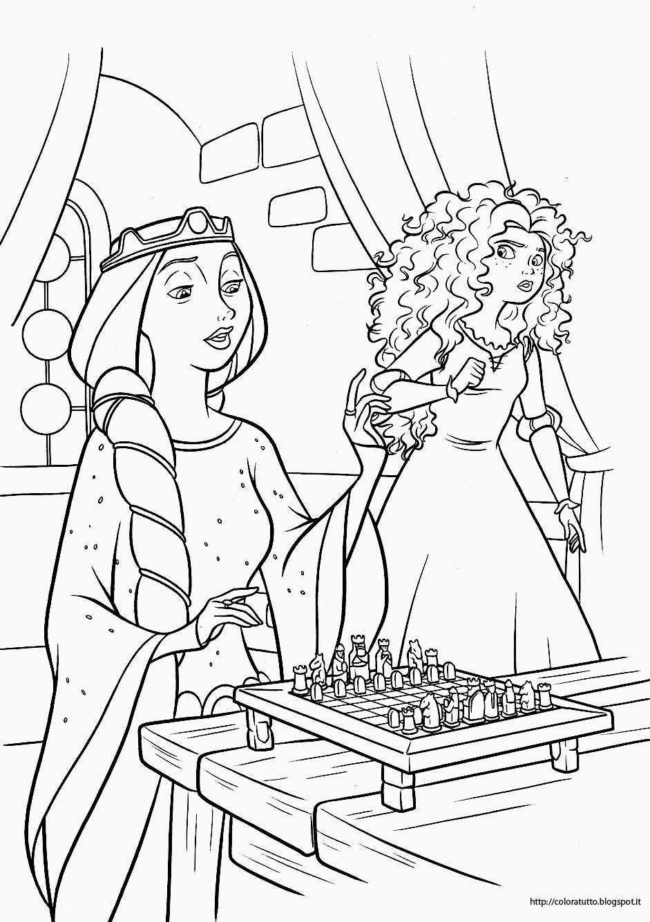 Ribelle The Brave disegno da colorare n.3