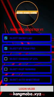 APK MOD WMB Pro Booster Mobile Legends Patch Terbaru