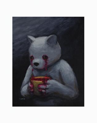 """Communion:Blood"" Fine Art Print by Luke Chueh x Dark Art Emporium"