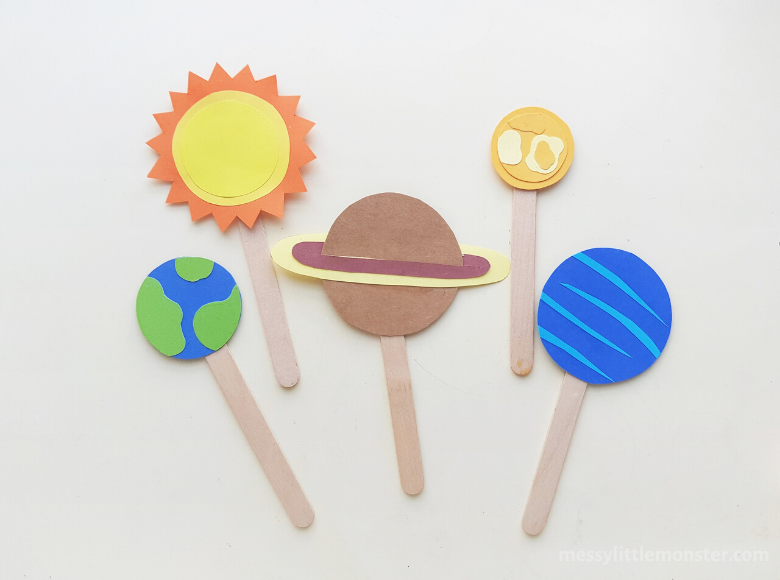 Outer space planet craft for kids