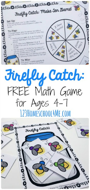 FREE Firefly Math Games to help Preschool, Kindergarten, 1st grade, 2nd grade, 3rd grade students practice counting, adding, and subtracting. Perfect spring or summer math games for kids