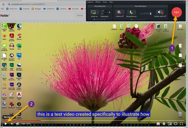 registrazione dello streaming del video