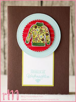 Stampin' Up! rosa Mädchen Kulmbach: Weihnachtskarten mit Christmas Sweaters, Weihnachten daheim, Adventsgrün, Flockenzauber, Von den Socken, Schneekristall und Holzdielen