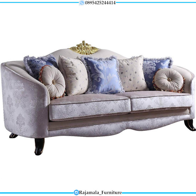 Sofa Tamu Mewah Terbaru Crown Carving Golden Luxury Design RM-0607