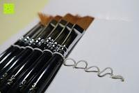 Schlaufen: Pinselset Ölmalpinsel - ZWOOS 12 Stk Nylonhaar Pinselset Ölmalpinsel Künstler Aquarell Acryl Ölmalerei Flachpinsel ,Schwarz