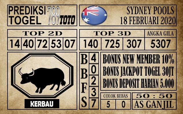 Prediksi Togel Sidney 18 februari 2020 - Prediksi Togel 789toto