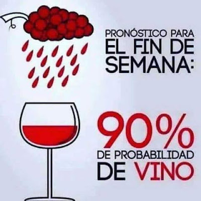 Pronóstico para el fin de semana, 90% de probabilidad de vino