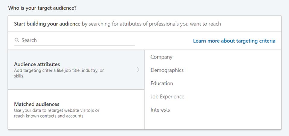 LinkedIn Audience Selector Tool
