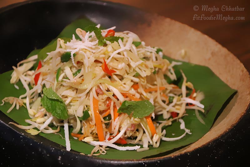 Kerabu Beansprout salad had nice concoction of coconut, sprouts and ...