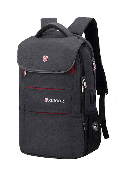 gray laptop backpack
