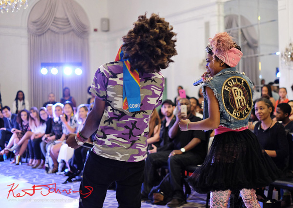 In unison, King Imprint & Kandi Reign Dance It Up LIVE at NYFW - Photographed by Kent Johnson for Street Fashion Sydney.