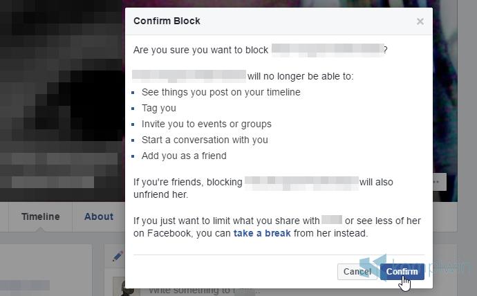 blokir orang lain