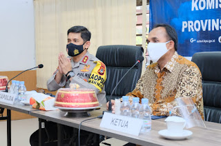 """Kunjungi KPU Prov Sulsel, Kapolda Sulsel Irjen Pol Merdisyam : """"Kami Siap Sukseskan Pilkada di Sulsel"""""""