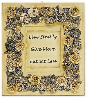 paper flower framed design