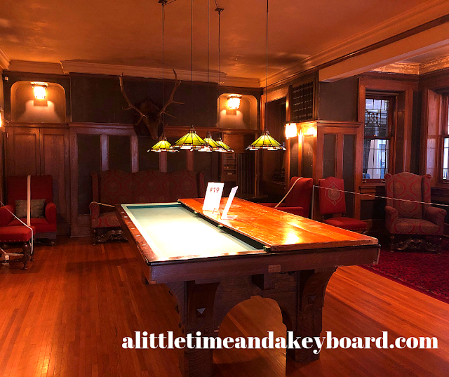 Well crafted billiards table that doubled as a regulare table for gatherings at Glensheen