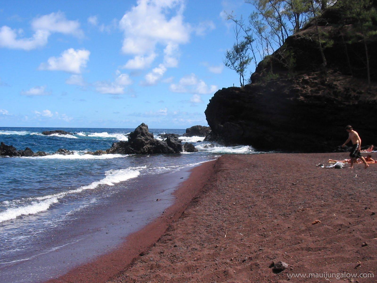 Red sand beach hana nude