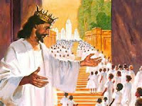 Jesus welcomes his saints - clipart.christiansunite.com