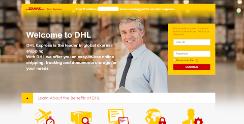 DHL scama page - spam tools