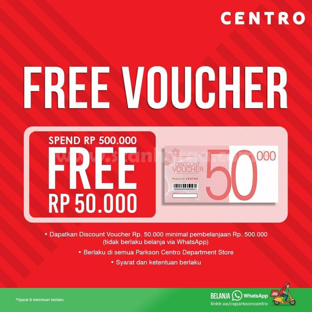 Centro & Parkson Deptstore Promo PILKADA - Discount voucher senilai Rp 50.000