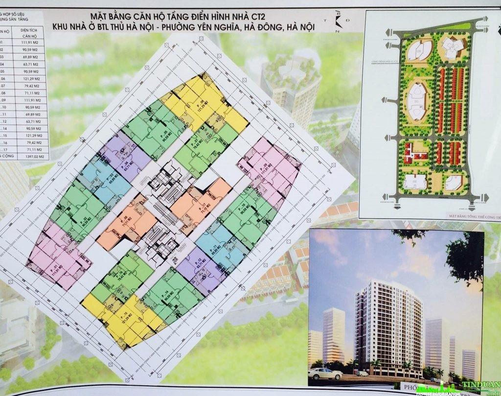 Thiết kế căn hộ chung cư CT2 Yên Nghĩa.