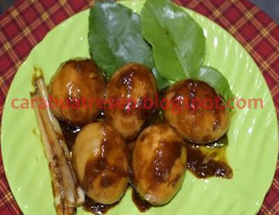 Foto Resep Telur Bumbu Petis (Endog Cit) Khas Banyuwangi Sederhana Spesial Asli Enak