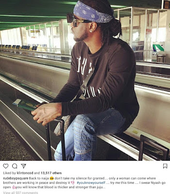 IMG 20170918 003357 - ENTERTAINMENT: Paul Psquare throw shades barely 24 hours after Peter denied fans' suspicion of beef between them