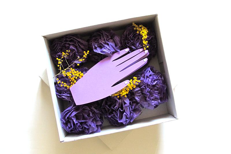 DIY happy mail correspondance mimosa violet amitié carte lettre surprise la poste