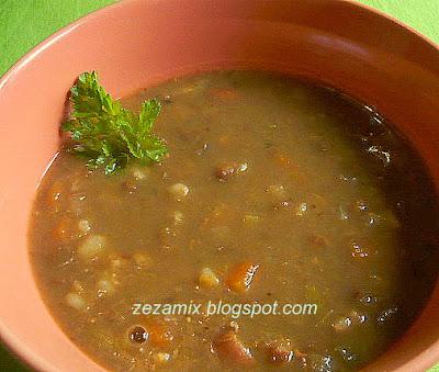 Brzo varivo od leće, ječma, mrkve, peršuna i drugog povrća