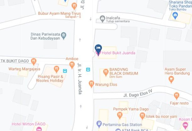 Map Letak Hotel Bukit Juanda Bandung