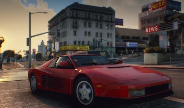 GTA 5 Addon Vehicle Ferrari Testarossa 1986