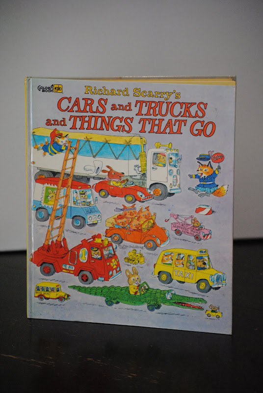 Vintage Richard Scarry book- Cars and Trucks