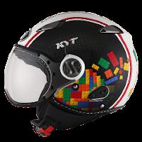 Helm KYT Elsico Seri 5 Black White