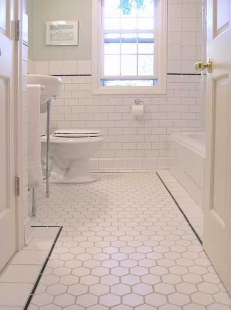 clean vintage bathroom