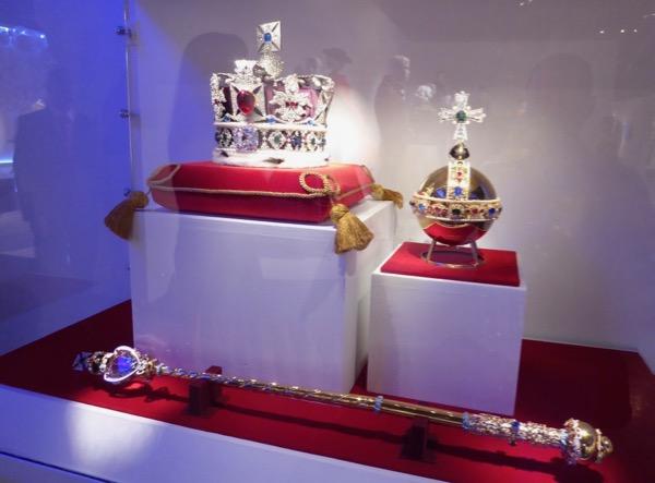 Crown Jewels replica props FIDM Museum