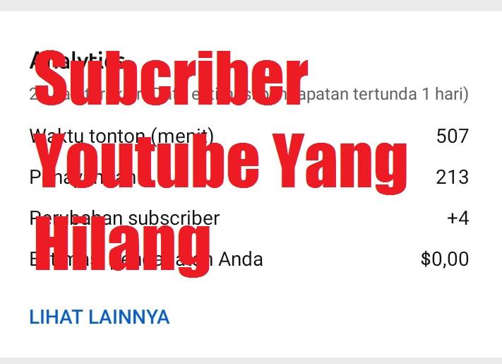 Cara Tercepat Mengembalikan Subcriber Youtube Yang Hilang Orang Gunung