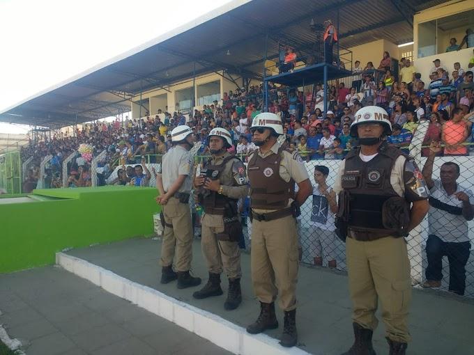 Jacobina: 24ª CIPM monta forte estrutura de policiamento no Estádio José Rocha
