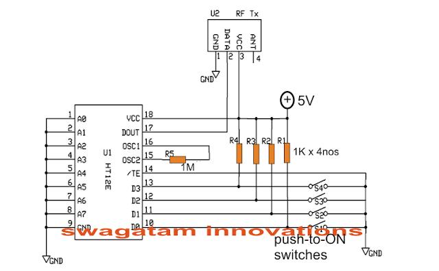 camera remote control transmitter circuit