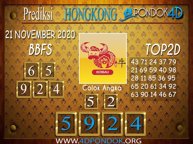 Prediksi Togel HONGKONG PONDOK4D 21 NOVEMBER 2020