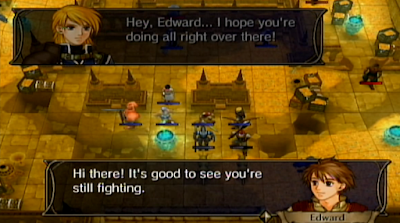 Fire Emblem Radiant Dawn support conversation example Edward Leonardo