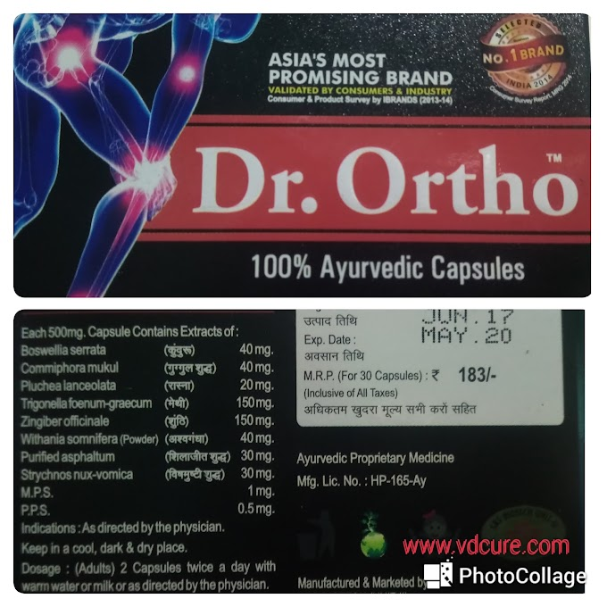 Dr. Ortho Capsules: Ingredients, Indications, Dosages, Side Effects, Contraindications.