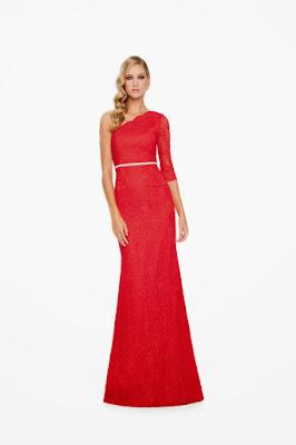 vestido rojo asimetrico invitada boda