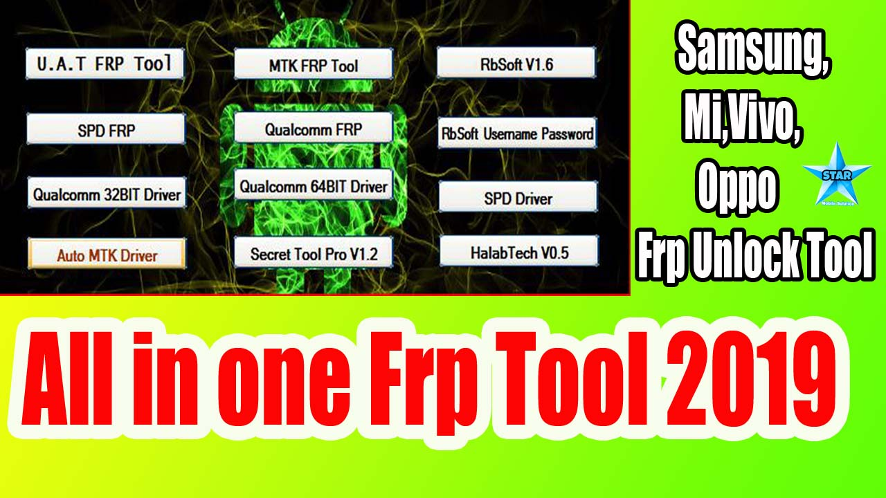 All in one Frp Tool Latest 2019 | Samsung,Mi,Vivo,Oppo Frp