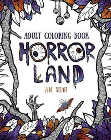 Horror Land Adult Colouring