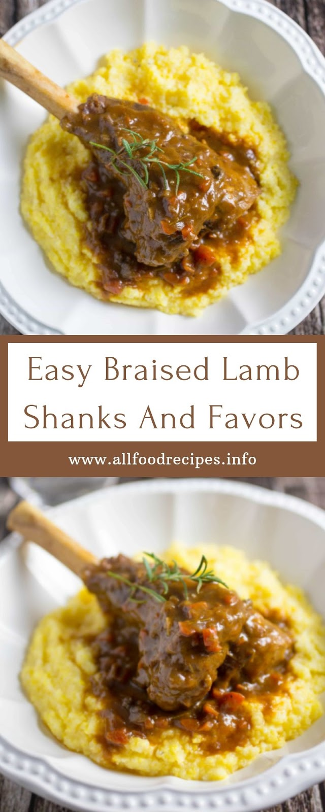 Easy Braised Lamb Shanks And Favors