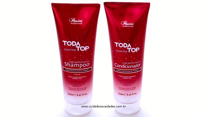 Shampoo e condicionador TodaTop progressiva