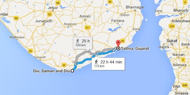 Migration of Brahmins as per Lunsadi Plates of Siladitya II in 670AD - Map