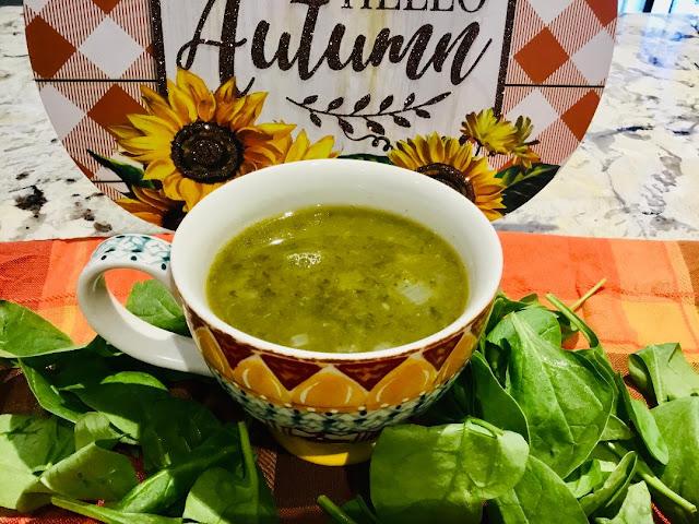 fall green soup -oil-free